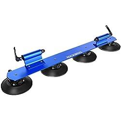 RockBros Portabicicletas Baca bicicleta con ventosa de almacenamiento para Auto, Blau (für 2 Fahrräder)