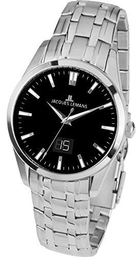 Jacques Lemans Liverpool–Reloj de pulsera analógico para mujer cuarzo acero inoxidable 1–1828d