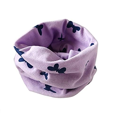 Kolylong Kinder Boy and Girls Baumwolle Schmetterlingsdruck Kragen O-Ring Schals (2 bis 10 Jahre alt.) (Mädchen Bad-accessoires)