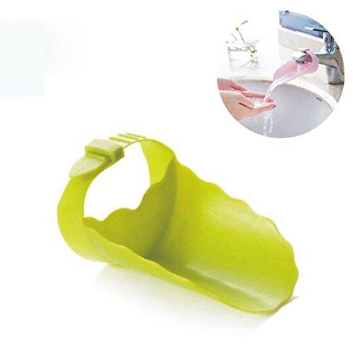 Wasserhahn Verlängerung für Kinder, vneirw Küche Spüle Cute Spüle Griff Erweiterung für Babys Sichere Hand Waschen, grün (Ersatzteile Baby-badewanne)