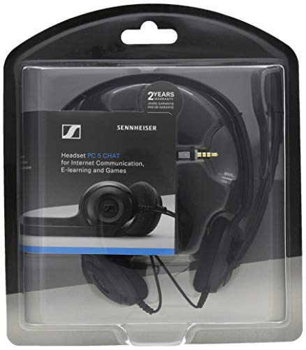 Sennheiser PC 5 Chat Kabelgebundene Kopf hörer für PCs Schwarz -