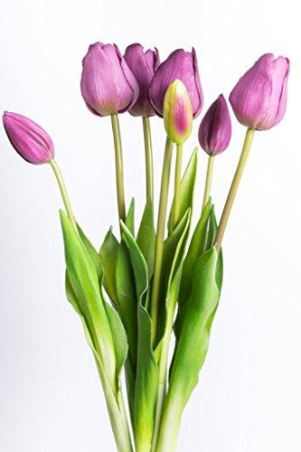 """künstliches Tulpenbündel mit 4 Tulpen und 3 Tulpenknospen """"real touch"""""""