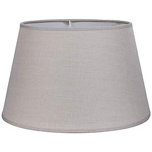 Better & Best 30 Lampenschirm aus Leinen, rund, mit weichem Fall, Taupe, Maße innen: 30 cm, Durchmesser oben: 21 cm, Höhe: 19 cm