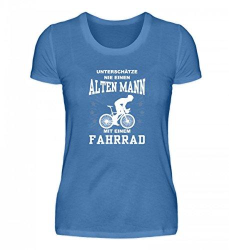 Hochwertiges Damen Premiumshirt - Unterschätze keinen Mann mit Fahrrad Türkisblau