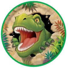 24 dinosauro T-Rex mix Cartoon cake Toppers 4 cm on wafer Rice Paper