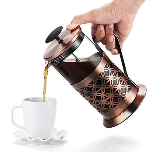 Rackaphile Kaffeebereiter mit Edelstahlfilter, French Press Kaffeekanne aus Glas mit...