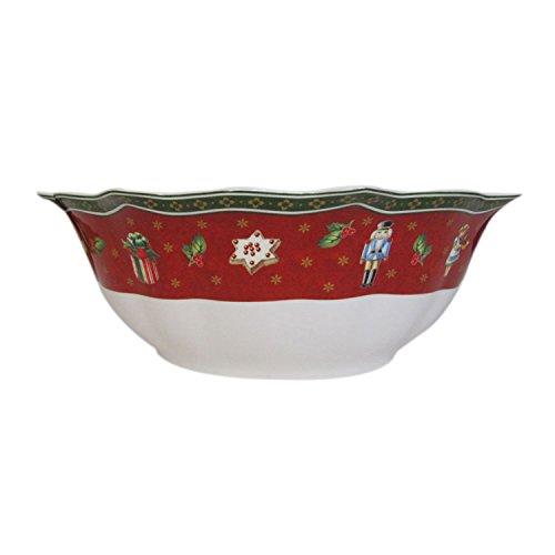 Villeroy & Boch Toy's Delight Bol, Porcelaine Premium, Blanc/Rouge