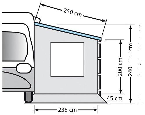 Seitenwand für Kastenwagen und Wohnwagen mit Fenster ETCT0018.250W -
