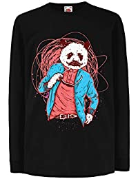 lepni.me Camiseta para Niño/Niña Panda Moderna, Ropa Urbana, Graciosa gráfica.