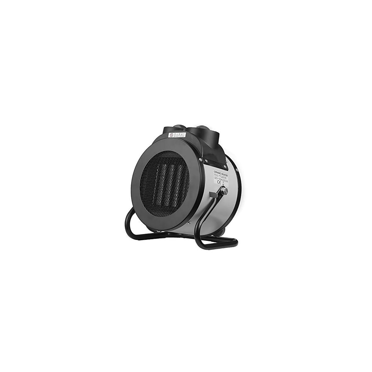 41ol P RdTL. SS1200  - Mfun-Fan Calentadores industriales calefactores asistidos Ventilador eléctrico PTC/calefacción de cerámica Calentador portátil Calentador de Gran Alcance Interior Calentador portátil,Silver
