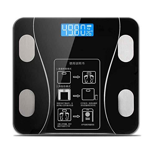 LJ2 Waage-Körper, Haushalts-intelligente elektronische Bluetooth-Körperfettwaage mit großer LED-Digitalanzeige für Android oder IOS