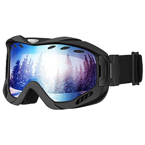 06475e61136a86 Mpow Masque de Ski Snowboard Lunette de Ski à Double Couche, Protection ...