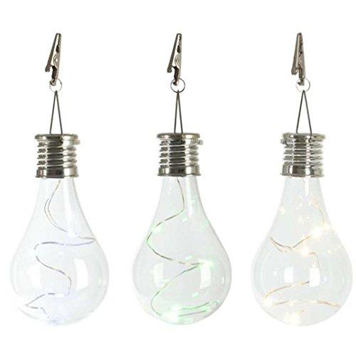 Jimmackey led lampadina lampada impermeabile solare giardino esterno campeggio appeso