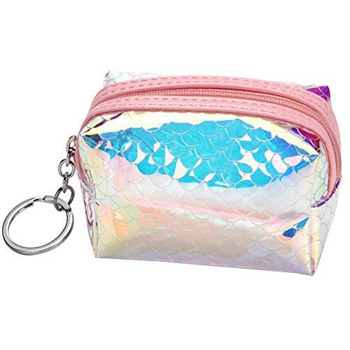 LinHut Tasche PVC Mini Reißverschluss Brieftasche Klar Geldbörse Halter Münzfach Für Männer Frauen Mädchen Jungen Weihnachten Geburtstagsgeschenk Rosa 1 Stücke Karten-Münze - Junge Münze