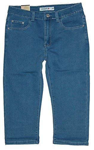 X-Max Damen 3/4 Stretch Capri Jeans Hose, blau X-895, Gr.40 W32 (= Hersteller 42)