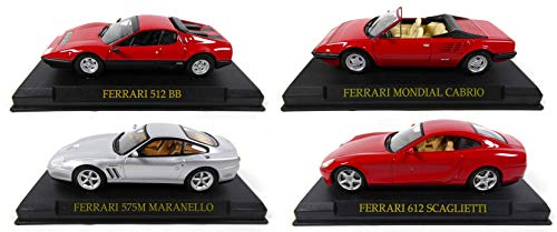 OPO 10 - Set von 4 Ferraris: Maranello 575M + 512BB + World + 612 Scaglietti 1/43 (Ref: KJ20 + 21 + 28 + 29)