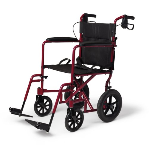 medline-transport-wheelchair-with-brakes-red-by-medline