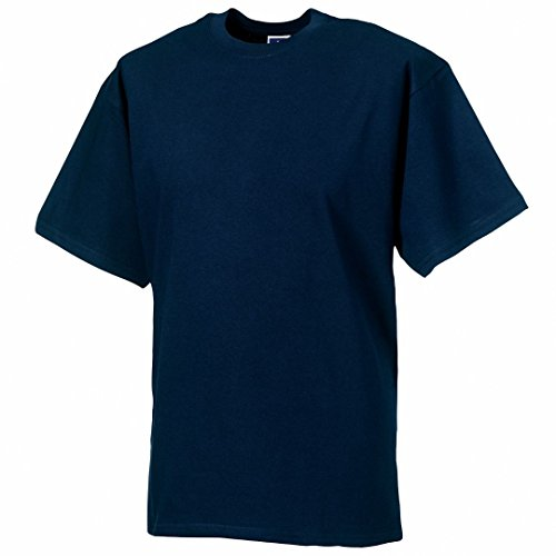 Russell Classic schwere ringgesponnene T-Shirt Blau - Marineblau