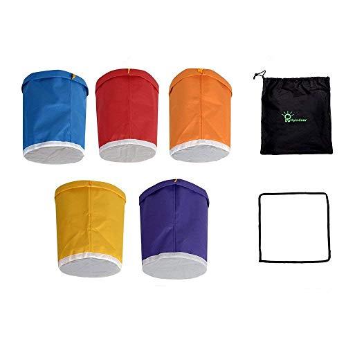 Hyindoor 4L 1 Gallon 5 Beutel Krautig EIS Bubble Bag Essenz Extractor Kit für Kräuterextraktion und Produktion von Hasch durch Eisextraktion -