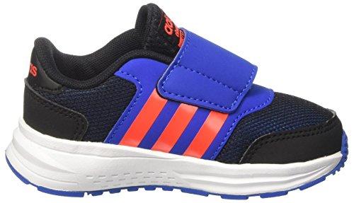 adidas Unisex-Kinder Cloudfoam Saturn cm Sneakers Schwarz (Cblack/solred/blue)