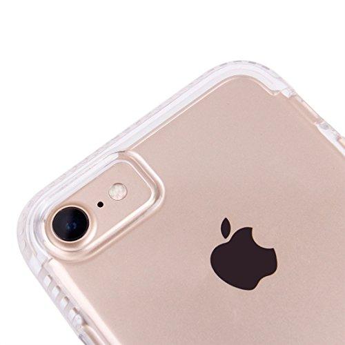 iPhone Case Cover Pour iPhone 7 ultra mince Transparent Soft TPU étui de protection arrière ( Color : Pink ) Transparent