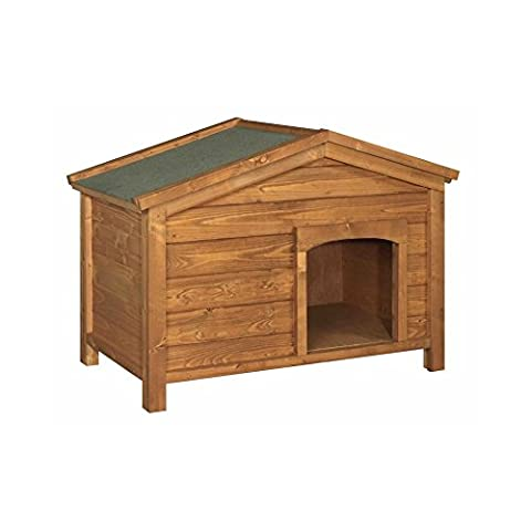 This Dog Kennel Offers The Perfect Garden Shelter For All Small,Medium, & Large Domestic Dogs - Includes Mineral Roofing Felt With Single Compartment With Off Set Door Opening To Provide Maximum Shelter