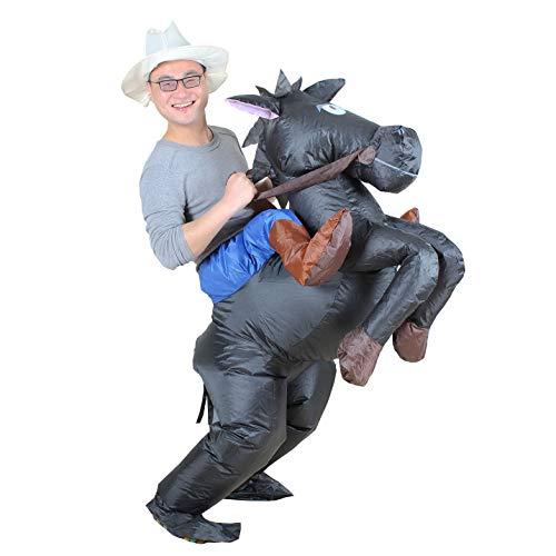 Mini Pferd Kostüm - Aufblasbares Kostüm Pferd und Cowboy Fasching