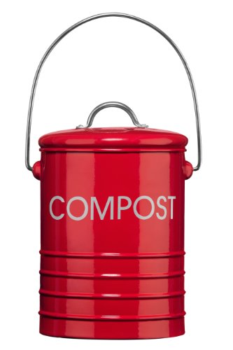 *Premier Housewares Komposteimer mit Tragegriff, Rot*