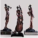 zzzddd Scultura da Tavolo,Resina Europea Musicista della Banda Musicale Statue Decorazione Home Bar Livingroom Cafe Desktop Scultura Persone Figurine Decorazioni Artigianali