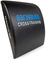 Earwaves ® Carbon Abmat - AB Mat Esterilla para Crossfit. Colchoneta Almohadilla Fitness para Entrenamiento
