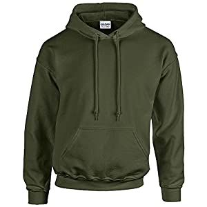 Gildan Heavy Blend Erwachsenen Kapuzen-Sweatshirt 18500 Military Green, S