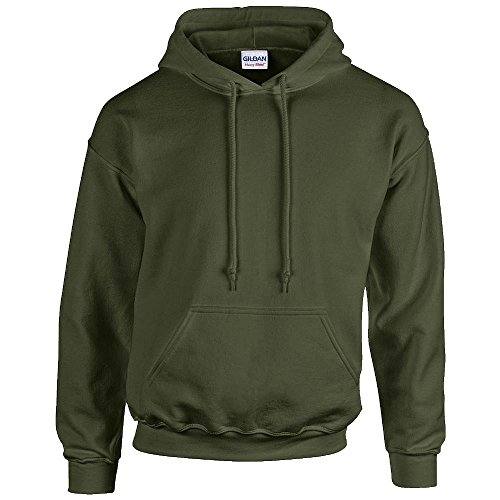 Gildan Heavy Blend Erwachsenen Kapuzen-Sweatshirt 18500 M, Military Green