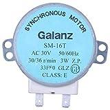 Motor sincronico de plato giratorio del horno de onda mini 3W 5 SODIAL 6RPM AC 21V 50 60Hz R