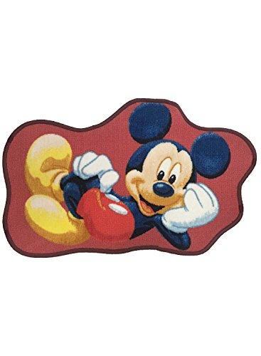 ABC Tappeti Alfombra Mickey Mouse Rojo 50 x 80 cm