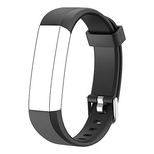 Muzili Verstellbares Ersatz-Armband für Fitness-Tracker, 5 Farben Schwarz, Pink, Grün, Blau, Lila, Schwarz