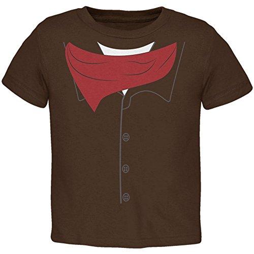 Old Glory Halloween Cowboy Revolverheld Kostüm Kleinkind T Shirt Braun 2 t (Halloween-kostüme Für Kleinkinder Cowboy)