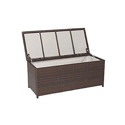 Premium Polyrattan Kissenbox XXL Auflagenbox Gartenbox Gartentruhe 28915