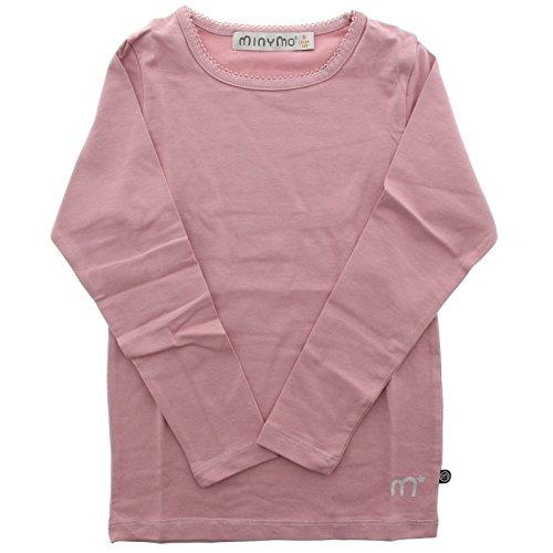 MINYMO Baby Mädchen Langarm T-Shirt, Alter 9-12 Monate, Größe: 80, Farbe: Rosa, 3580 (Monate Langarm-shirts 9)