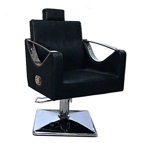 Schwarz Salon Stuhl Styling Fashion Barber Friseur -9850 (Styling Stuhl)