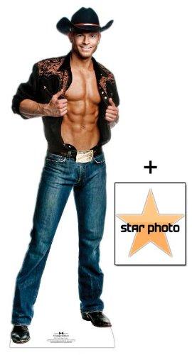 *Fanbündel* - Jaymes Vaughn Cowboy Outfit - Chippendales Lebensgrosse Pappfiguren / Stehplatzinhaber / Aufsteller - Enthält 8X10 (25X20Cm) starfoto - Fanbündel (Outfit Chippendale)