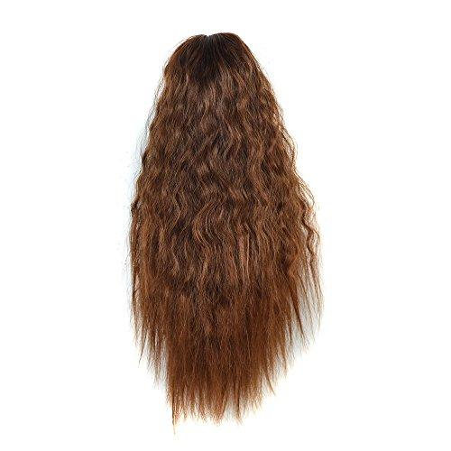 Luckhome Locken Lange Haare Täglich Perücke Womens Claw Thick Wellenförmige Lockige Kurze Pferdeschwanz Schachtelhalm Haarspangen Klaue Clip Typ Mais Heiße(C)