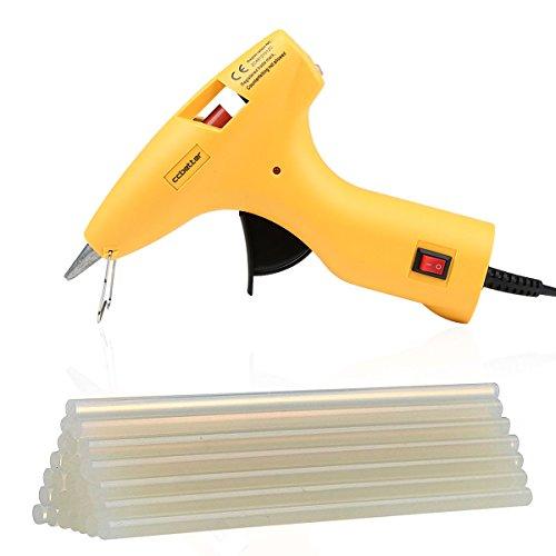 Diy-kunst (Heißklebepistole , 30W CCbetter Klebepistole Mit 25PCS transparent Klebesticks/ Heißklebestifte Für DIY Kleine Handwerk Kunst & Handwerk, & Dichtung und schnelle Reparaturen (gelb))