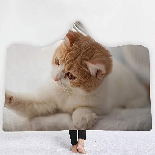 XPY-hooded blanket Niedliche Pet Serie Katze verdicken Sie Decke mit Kapuze Heim Kinder Decke Büro Student Nickerchen Decke Klimaanlage Decke Schal Umhang, 150 * 200cm
