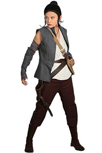Rey Kostüm Cosplay Damen Erwachsener Kühlen Abendkleid Klage Neue Version Outfit Mit Gürtel Tasche Halloween Kleidung