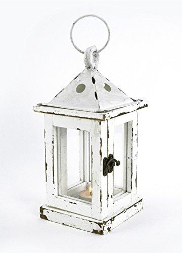 Laterne Holz Metall Windlicht Deko Kerzen Ständer Halter Leuchter Teelichthalter (Holz-laterne-kerze-halter)