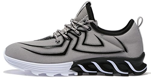 Nspx Sneakers Mode Lightning Pattern Mode Sneakers Grande Taille Respirant Portant Chaussures Grandes Chaussures De Sport, 41 803grey-41