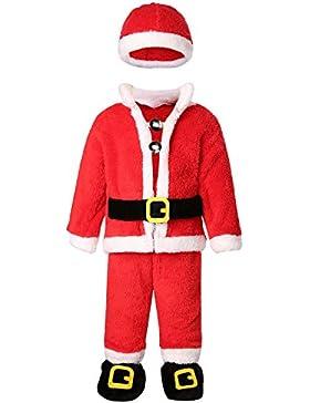 Kidsform Baby Unisex Weihnachtsmann Langarm Christmas Outfits WeihnachtsoutfitSet