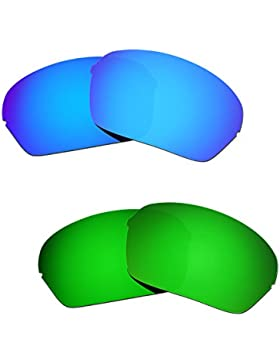 Hkuco Plus Replacement Lenses For Oakley Half X 2 pair Combo Pack