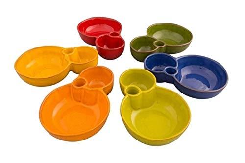 Divine Deli Oliventeller, Keramik, 8 Formen, verschiedene Farben