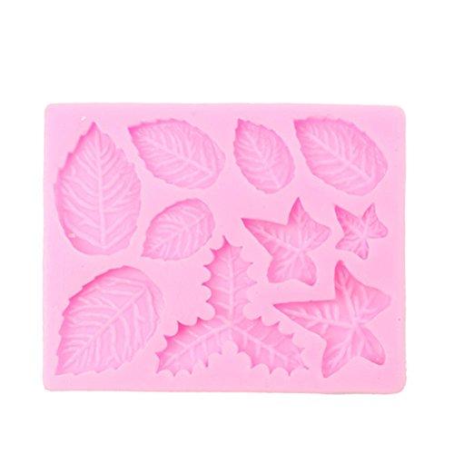 CAOLATOR Blatt Silikonform Fondant Silikon Formen 3D Silikon-Kuchenform Seifenformen Schokoladenform Eiswürfelbereiter zum Muffin Gelee Pudding Dessert Schimmel Geeignet für Seife, Backen -